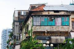 Casa desvencijada, Saigon Fotos de archivo