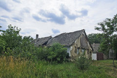 Casa devastada vieja Imagenes de archivo