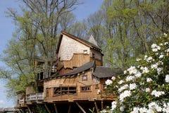 Casa di albero del giardino di Alnwick Fotografia Stock