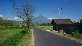 Casa di Bali in villaggio Fotografia Stock