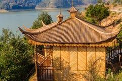 Casa di bambù Fotografie Stock