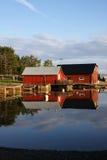 Casa di barca immagine stock