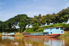 Casa di barca Immagini Stock