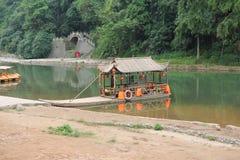 Casa di barca messa in bacino Immagini Stock