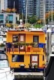 Casa di barca, yacht nel porto del carbone, Vancouver del centro, Columbia Britannica, Canada Immagine Stock Libera da Diritti