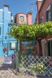 Casa di Bepi, Burano, Italia Fotografia Stock Libera da Diritti