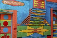Casa di Bepi, Burano, Italia Immagini Stock
