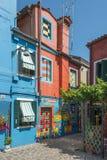 Casa di Bepi, Burano, Italia Fotografie Stock