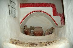 Casa di Berber, Libia Immagine Stock