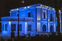 Casa di Bibescu alla notte Fotografie Stock Libere da Diritti