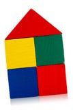 Casa di blocchi di legno Fotografia Stock Libera da Diritti
