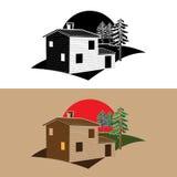 Casa di blocco stilizzata Fotografia Stock Libera da Diritti