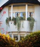 Casa di campagna con il balcone e le piante Immagini Stock