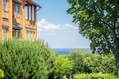 Casa di campagna di legno Mejigorye Fotografie Stock