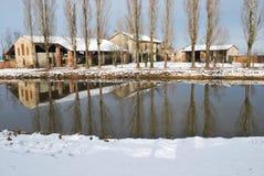 Casa di campagna in inverno Fotografia Stock Libera da Diritti