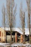 Casa di campagna in inverno Fotografie Stock Libere da Diritti