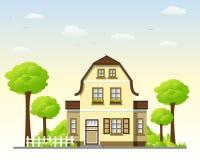 Casa di campagna piacevole Immagine Stock