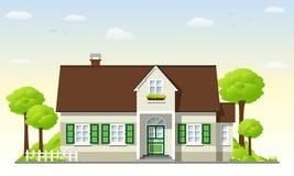 Casa di campagna piacevole Immagini Stock