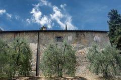 Casa di campagna vicino a San Gimignano Toscana Fotografie Stock Libere da Diritti