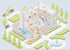 Casa di cura funzione Assistere-vivente Vettore illustrazione vettoriale