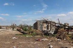 Casa di danno di ciclone Fotografia Stock