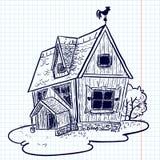 Casa di Doodle Fotografie Stock