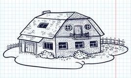 Casa di Doodle Fotografia Stock Libera da Diritti