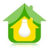Casa di Eco ed energia verde illustrazione di stock