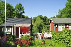 Casa di estate fotografia stock