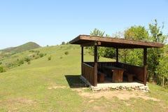 Casa di estate alta nella montagna Fotografia Stock