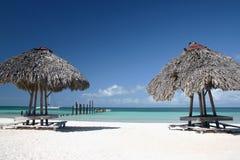 Casa di estate nella spiaggia Immagine Stock Libera da Diritti