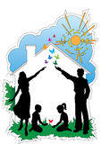 Casa di famiglia Immagine Stock Libera da Diritti