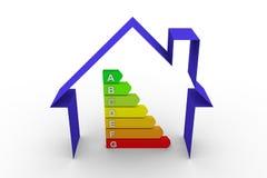 Casa di grafico di rendimento energetico Immagini Stock