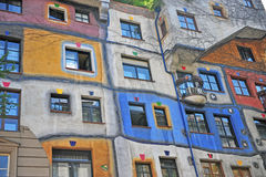 Casa di Huntdertwarsser a Vienna del centro, Austria Immagine Stock