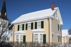 Casa di inverno Fotografia Stock