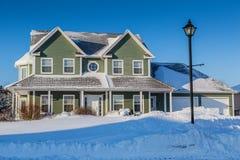Casa di inverno Immagine Stock