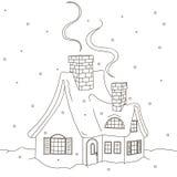Casa di inverno Fotografia Stock Libera da Diritti