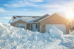 Casa di inverno Fotografie Stock