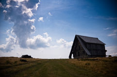 Casa di legno abbandonata fotografia stock libera da diritti