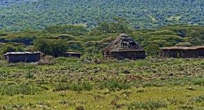 Casa di legno in Africa Immagini Stock