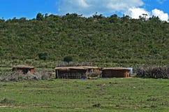 Casa di legno in Africa Fotografie Stock Libere da Diritti