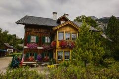 Casa di legno in Altaussee, Austria Fotografie Stock Libere da Diritti