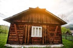 Casa di legno antica Fotografie Stock Libere da Diritti