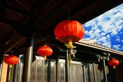 Casa di legno cinese Fotografia Stock Libera da Diritti