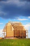 Casa di legno, costruzione Fotografia Stock Libera da Diritti