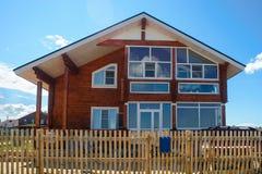 Casa di legno del piano Fotografie Stock