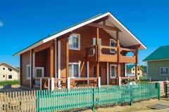 Casa di legno del piano Immagine Stock Libera da Diritti