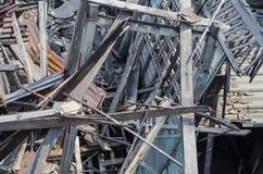 Casa di legno di rovina Fotografia Stock
