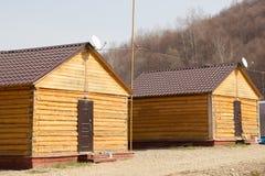Casa di legno due Fotografie Stock