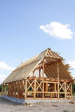 Casa di legno ecologica Immagine Stock Libera da Diritti